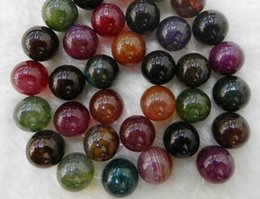 """Wholesale Dragon Vein Agates - free shipping natural beautiful Jewelry NEW 1 Strand 10mm Multi-color Dragon Veins Agate Gems Round Loose Beads 15"""""""