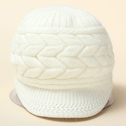 Wholesale Pink Berets - Wholesale- Women's Winter Solid Color Warm Knitted Baggy Beret Beanie Hat Slouch Ski Cap