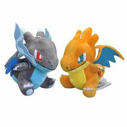 "Wholesale Pokemon Charizard Plush - New Hot 2 Styles 6"" Charizard Poke Doll Anime Collectible Pocket Monsters Soft Plush Dolls Pendants Gifts Stuffed Toys"