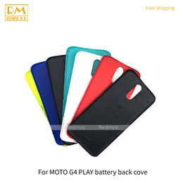 Wholesale Housing Full Case - 5pcs lot For Motorola Moto G4, G4 Play Full Back Cover Door Rear Case Battery Cover Back Housing Replacement Cellphone Parts
