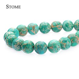 Wholesale Gemstone Loose Beads 12mm - Loose Natural Stone Green Emperor Pine Round Beads Gemstone 4-12mm Fashion Jewelry Strand For DIY S-038 Stome