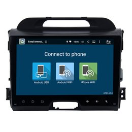 "Wholesale Car Dvd Tv Gps Bluetooth - 9"" Quad Core Android 6.0.1 Car DVD Head Unit Radio For Kia Sportage 2011-2015 GPS Bluetooth Phonebook RDS WIFI 3G Network Google USB AUX"