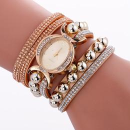 Wholesale Oval Glass Rhinestone - New arrival fashion oval women long leather diamond bracelet watch 2017 ladies dress Creative Rhinestone quartz wrist watches