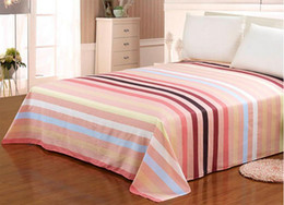 Wholesale Home Textile Free Shipping - New fashion Printed bed sheets stripe sheet cotton Bedding Supplies simple style Home Textiles 3 sizes free shipping