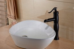 Wholesale Oiled Bronze Basin Faucet - Wholesale- NEW Oil Rubbed Bronze Water Pump Bathroom Faucet Waterfall Basin Sink Mixer Tap