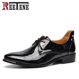 Wholesale Cheap Flat Loafers Men - Rivets Flats Men Shoes Business Dress Men Shoes Fashion Breathable Leather Casuals cheap mens dress Shoes 2017 New Arrival Plus Size