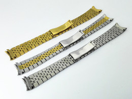 Wholesale watch band beads - Hot sale watch band watch stainless steel solid Strip with five beads Niu Huan the Golden silver 20mm for Rolex