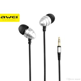 Wholesale Q2 Phone - AWEI ES Q2 Noise Isolation Super Deep In-ear Earphone 3.5mm Jack Headset for Phone MP3 MP4 Players 1pcs