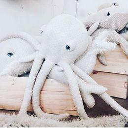 Wholesale Octopus Plush Toy - Cartoon Room Decor Octopus Cushion Soft Infant Sleeping Doll Kids Baby Octopus Decorative Pillow Mini Octopus Plush Doll Toy
