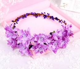 Wholesale Lily Hair Wedding - 2017 Nice Quality 7 inch Female Luxury Bride Wedding Honeymoon Wreath Headdress Jewelry Wedding Hair Accessories Free Shipping