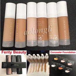 Wholesale Mix Oils - In Stock New Fenty Beauty Rihanna Pro Filt'r Soft Instant Retouch Primer Matte Longwear Foundation Concealer 6 color 32ML Makeup