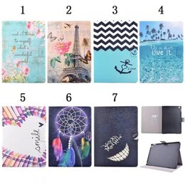 Wholesale Animal Cases For Tablets - For Apple iPad Pro 9.7 2017,Galaxy tab S3 T820 Pencil Eiffel Tower Flower Sea PU Leather Wallet Holder Card Pouch Case Tablet Skin Cover