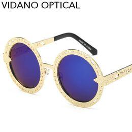 Wholesale Round Style Glasses For Men - Vidano Optical New Fashion Round Sunglasses For Women & Men Glasses Classic Style Fashion Design Steampunk Sun Glasses UV400