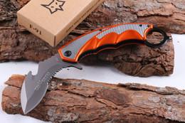 Wholesale New Fox Pocket Knife - New 2016 Fox F91 CLAW Karambit 5CR15MOV 57HRC steel Hunting folding Knife Pocket Survival Knives 1pcs Free Shipping