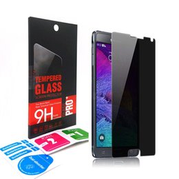 Wholesale Huawei S7 Screen - Tempered Glass Privacy Anti Spy Screen Protector For Samsung Galaxy s6 s7 note 5 4 3 2 J7 A7 A5 SONY LG ZTE MOTO HUAWEI