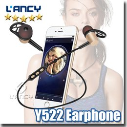 Wholesale Bluetooth Head Sets - Bluetooth Earphone Y522 Wirless Sports Sweat Proof Magnetic Headphone Handfree Head set Quality Stereo Earphones for iphone7 Samsng S8