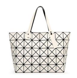 Wholesale Baguette Diamonds - Wholesale-2016 Fashion Women Top-Handle Pearl Bag Diamond Lattice Tote Geometry Quilted Handbag Geometric Mosaic Shoulder Bag sac a main