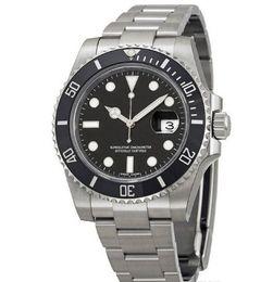 Wholesale Watch Logo Calendar - luxury brand 116610 sapphire glass logo inner date men mechanical watches automatic stainless black dial men's dress watches SB501