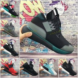 Wholesale Vista Green - Hot Sale Y-3 Qasa High Vista Grey Triple Black 9 colors Best Quality Version Y3 sneakers Man and Women Casual Shoes Size 36-44