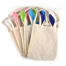 10 estilos de algodón de lino conejito de pascua orejas cesta bolsa para el embalaje de regalo de pascua bolso de Pascua para el niño fino Festival de regalo 255 * 305 * 100 mm desde fabricantes
