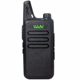 Argentina WLN KD-C1 Walkie Talkie UHF 400-470 MHz 5W Potencia 16 canales MINI-handheld Transceptor Suministro