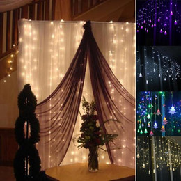Wholesale Luces Led Navidad - Wholesale- 3.5M LED Curtain Christmas Tree Icicle String Fairy Lights Xmas Party Home Decor Guirlande Lumineuse Led Luces De Navidad