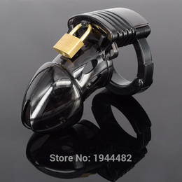 Wholesale Male Chastity Device Cb - CB Male Chastity Device With Adjustable Penis Ring Chastity Belt Cock Cage Bondage Sex Toys Dildo Lock For Men Sex Products Plastic Black