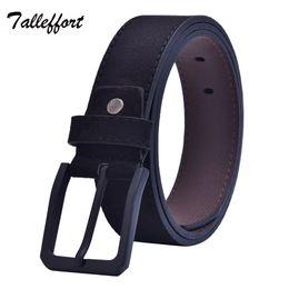 Wholesale Wholesale Designer Men Belts - Wholesale- Tallefffort High Quality Pin Buckle Faux Leather Belt Designer Brand Belt For Man