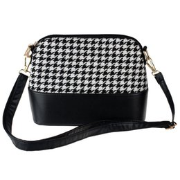Wholesale Top Brand Bag Wholesale - Wholesale- Women Houndstooth Shoulder Bags Tote Purse Women Messenger Satchel Bag high quality 2016 women's handbags top brands