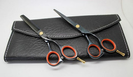 Wholesale Dress Scissors - Wholesale- Professional tungsten steel Hair dressing scissors set straight & thinning cutting Barber shears 5.5 inches S011