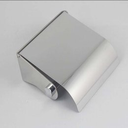 Wholesale Paper Towel Box Stainless - Wholesale- 304 Stainless Steel Towel Box Paper box Paper Towel Tissue Box Bathroom Accessories 8817