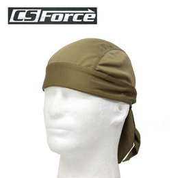 Wholesale Bicycle Force - Wholesale-CS Force Outdoor Sports Quick Dry Cycling Cap Headscarf Headband Bicycle Cap Sports Men Riding Bandana Pirate Hat Sand