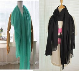 Wholesale New Style Hijab Scarf - Wholesale-NEW hot Fashion Style Scarves Autumn and Spring Warm Solid Color All-match Pleated Muslim Hijab Female Women Scarf Shawl