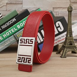 Wholesale Fashion Design Mens Belt Buckle - Hot Men's Belts Luxury Smooth buckle genuine leather belts for men designer mens belt design women waist belts free shipping
