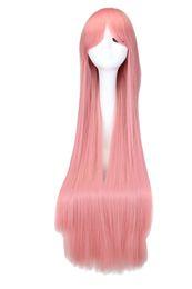 Vocaloid full cosplay en Ligne-Perruque de cheveux synthétiques longues et droites 100% résistant à la chaleur Cosplay VOCALOID-luka