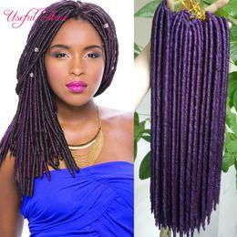 Wholesale Kanekalon Synthetic Hair Wholesale - faux locs crochet braids 14,18inch synthetic hairbraiding braid hairstyles soft dreadlocks syntheitc hair extension kanekalon dreadlocks