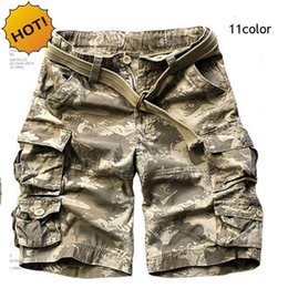 Wholesale Military Army Camouflage Shorts - High Quality Summer Style Cotton camouflage Camo Tactical Military Shorts Men Multi Pocket Cargo Short Trousers Plus Size S-XXXL