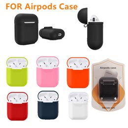 Wholesale Silicone Earphone Covers - Airpods Protective Cover Pouch Bluetooth Wireless Earphone Silicone Case Waterproof Anti-drop Accessories Promotion High Quality For Apple