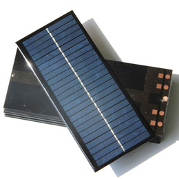Wholesale Power 92 - Wholesale 12V 2.5W Mini Solar Cell DIY Polycrystalline Solar Panel Solar Power Battery Charger 213*92*3MM 10pcs lot Free Shipping