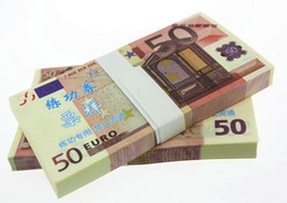 Wholesale Wholesale Staff - 100PCS EUROS 50 BANKNOTES 1:1 Bank Staff Training Collect Learning Banknotes Arts Gifts Home Arts Crafts
