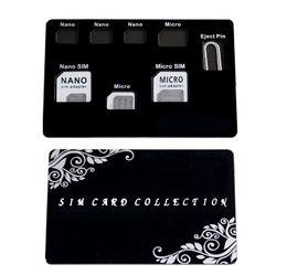 Adaptateur pour carte SIM Kit NANO Support pour carte SIM avec aiguille Iphone Pin, mince Format carte de crédit pour portefeuille, étui de rangement pour 7 cartes SIM, Qua ? partir de fabricateur