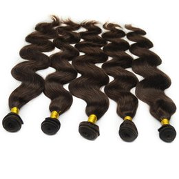 Wholesale Cheapest Mongolian Hair - Queen Cheapest 5Pcs 9A Dark Brown Natural Body Wave Indian Human Hair Extensions Unprocessed Remy Virgin Hair Weave Weft