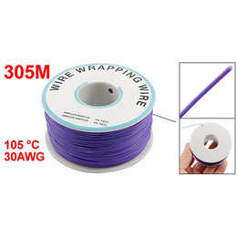 Wholesale Coated Pcb - PCB Solder Cable Flexible 0.25MM Dia Tin Coated Copper Wire 30AWG 105 Celsius OK Line Wire-Wrapping Reel Cable Roll 9 Color 305M 1000Ft