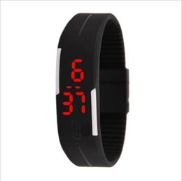 relógio de borracha exibido Desconto 100 PCS dhl SHIP moda esportes retângulo display digital levou tela de toque relógios de borracha pulseira de silicone pulseiras de estudantes de pulso relógios presente
