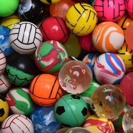 Wholesale Elastic Rubber Ball - 10pcs Funny toy balls mixed Super Bouncy Ball child elastic rubber ball Children Kids Birthday Party Bag Gift Toy High quality