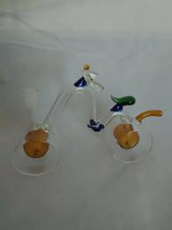 2019 narghilè di bicicletta Twist di bicchierini di vetro per biciclette, bruciatore di olio unico Tubi di vetro Tubi di acqua Rigs di olio per tubi di vetro Fumo con contagocce narghilè di bicicletta economici