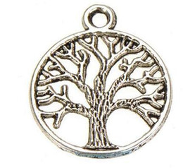 Wholesale Accessory Charm Supplier - metal tree charms vintage silver plants life of tree new diy fashion jewelry accessories suppliers for jewelry 24*20mm