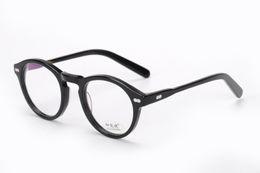 Wholesale Eyeglasses Vintage Retro - 2016 Brand design retro vintage brand Moscot miltzen johnny depp prescription glasses optical eyeglasses spectacle frame free shipping