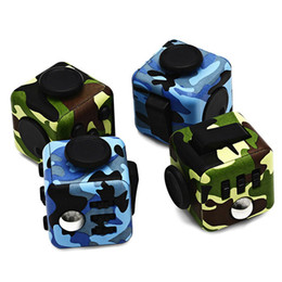 Wholesale Plastic Dice Toy - Anti Stress Magic Fidget Cube Decompression Toys for Anxiety The World's First American Dice Camouflage Kids Toy Gift Retail Box