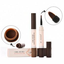 Wholesale Brow Set Gel - Professional Waterproof Makeup Eyebrow Set Tint My Brows Gel Long Lasting Grey Brown Henna Eyebrow Tattoo Dye Gel
